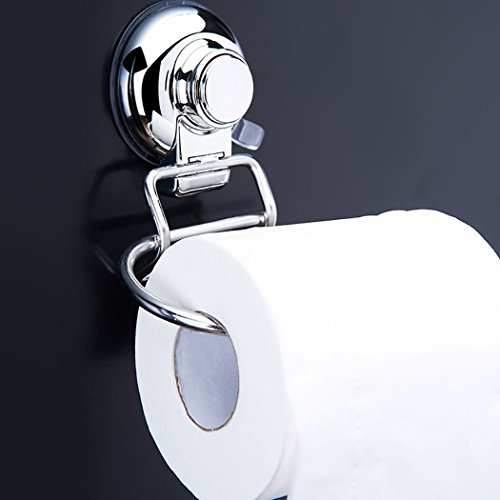 FUNRUI SUS304 Stainless Steel Suction Toilet Roll Holder No Drilling Bathroom Kitchen Accessories Tissue Towel Roll Holder Hook Hanger Chrome Plated by FUNRUI (Image #6)