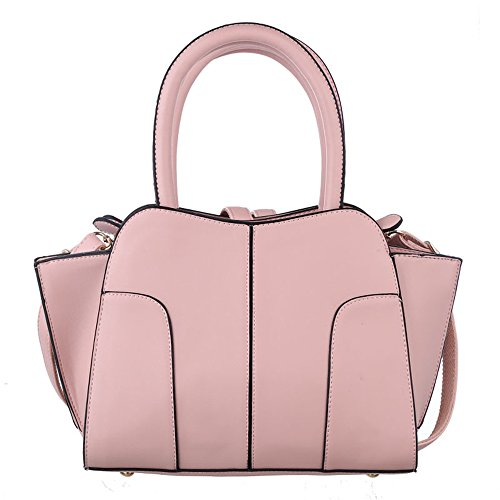GWQGZ Nuevo Señoras Bolso Bolso Messenger Bag Clásico Retro Sólida Bolsa Commuter Rosa Pink