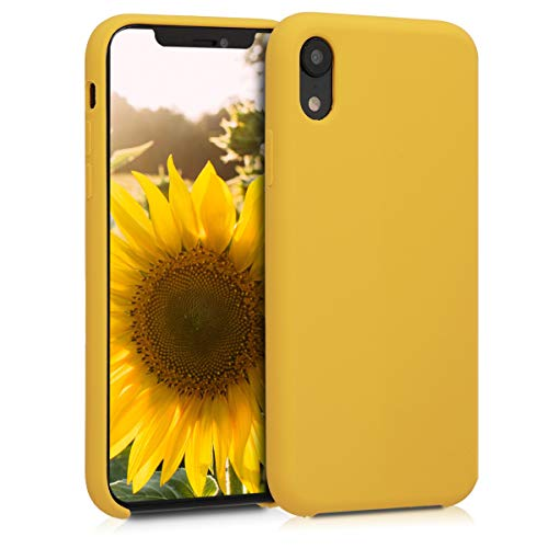 Honey Yellow Case - kwmobile TPU Silicone Case for Apple iPhone XR - Soft Flexible Rubber Protective Cover - Honey Yellow