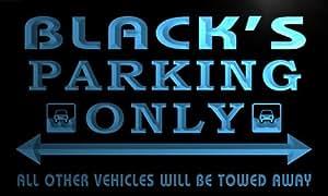 qo1149-b Black's Family PARKING ONLY Car Bar Beer Neon Light Sign