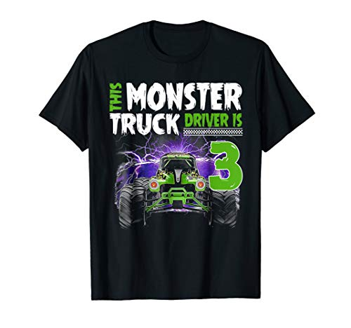 Kids This Monster Truck Driver Is 3 Birthday