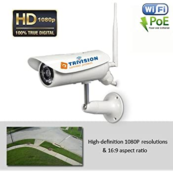 Amazon Com Trivision Outdoor Security Camera Wifi Poe Hd