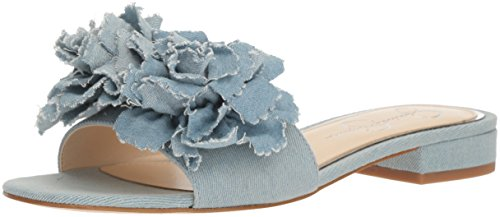 Jessica Simpson Women's Caralin Slide Sandal, Vintage Blue, 7.5 Medium US (Blue Simpson Sandal Jessica Womens)