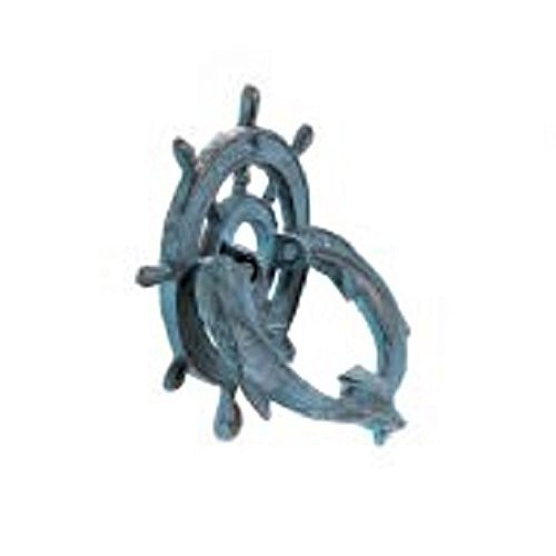 Cast Iron Blue Double Dolphin Door Knocker 6