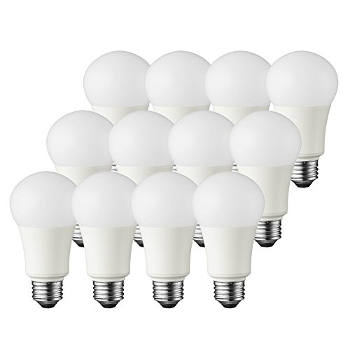 TCP 60 Watt LED A19, 12 Pack, Soft White (2700K), Energy Star Rated Dimmable Light Bulbs