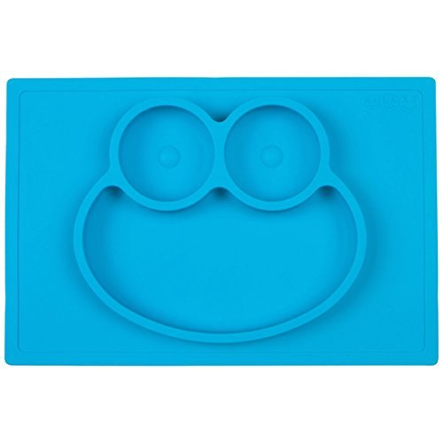 Galaxy 1 Piece Frog Silicone Placemat & Tray, Blue