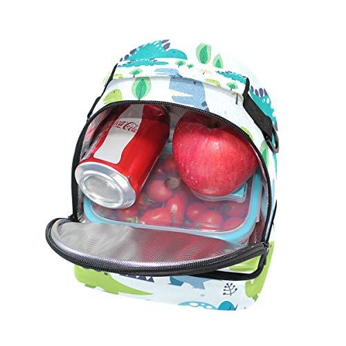 hombro con el de ajustable aislante para correa almuerzo la pincnic de con de Alinlo escuela diseño para Bolsa dinosaurio SROxAnCq