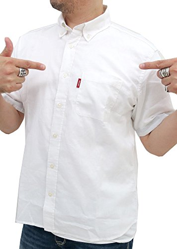 (コンバース)CONVERSEシャツメンズ半袖リネンシャツメンズ麻混シャツボタンダウン4colorMホワイト