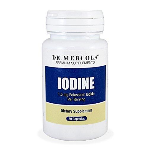 Dr. Mercola iode - iodure de Potassium de 1,5 mg par portion - aide à maintenir une peau saine, des dents et des cheveux - 30 Capsules