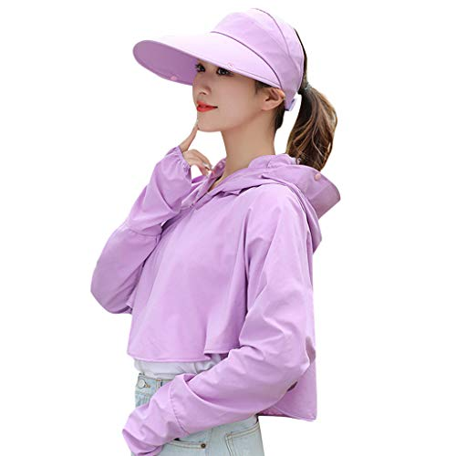 (Sun Protection Hoodie,LIM&ShopUPF50+ Anti-UV Coat Summer Jacket Hat Cooling Visor Long Sleeves Fishing Shirt Quick Dry)