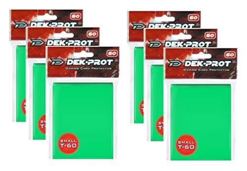 (DEK PROT Small T-60 Texture/Rough Gaming Card Sleeves Peridot Green - 360 Count - 60 Count x 6)