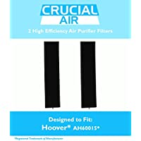 2 Replacement High Efficiency Hoover AH60015 Air Purifier Filters Fit WH10400, WH10600, WH10610, 400 & 600 Series, Designed & Engineered by Crucial Air