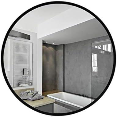 バスルームウォールミラー、北欧近代化粧ミラー - ラウンドフレームラージミラー - ガラス装飾壁ミラー (色 : Elegant black, サイズ さいず : 70x70cm)