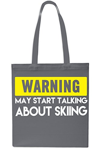 Bag 42cm GREY Shopping Tote Start Talking x38cm NAVY litres Beach About Warning Gym May Skiing 10 KYzvwBZq