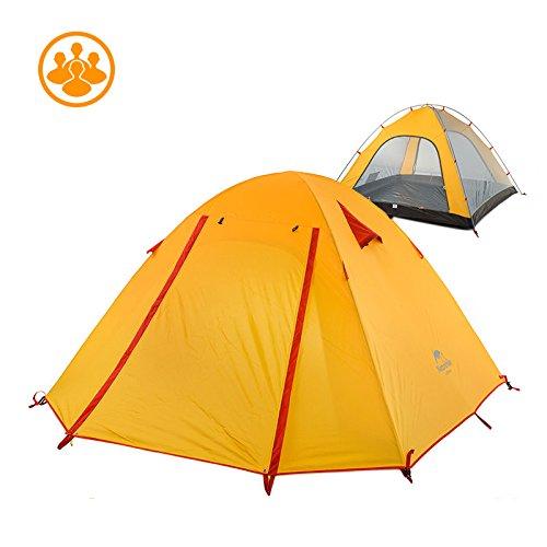 すでに出費雪だるまNatureHike 2-3-4人用 UVガード防水テント アウトドアキャンプ二重層キャンピングテント 防災/登山/山岳テント