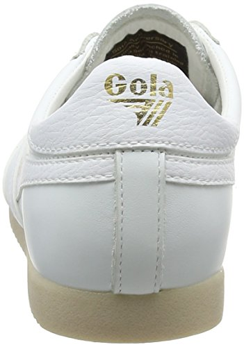 Gola Women's Harrier 50 Leather Trainers White (White/White Ww White) EBG4j0TSo