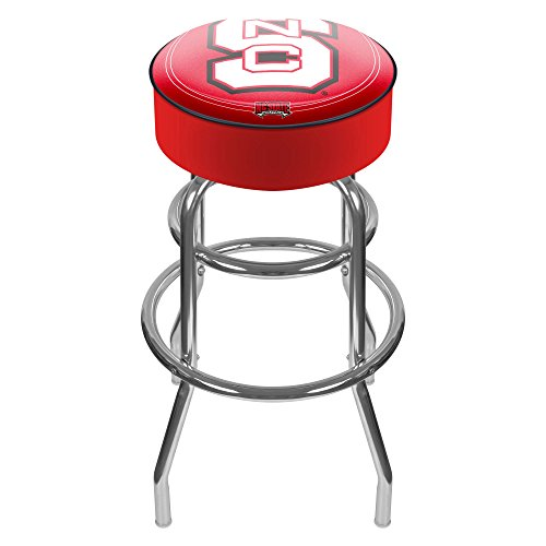 NCAA North Carolina State University Padded Swivel Bar Stool (Stool Bar State Wolfpack)