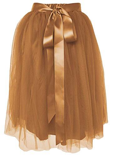 Fall Fairy Costume (Dancina Women's Knee Length Tutu A Line Layered Tulle Skirt Regular (Size 2-18))