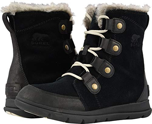 - Sorel Womens Explorer Joan Snow Boot, Black/Dark Stone (11)
