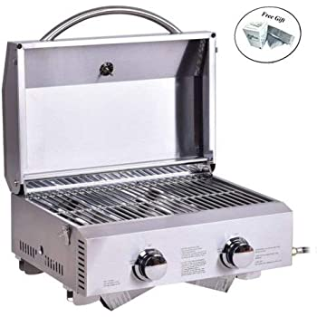 Amazon Com Eight24hours 2 Burner Portable Stainless Steel
