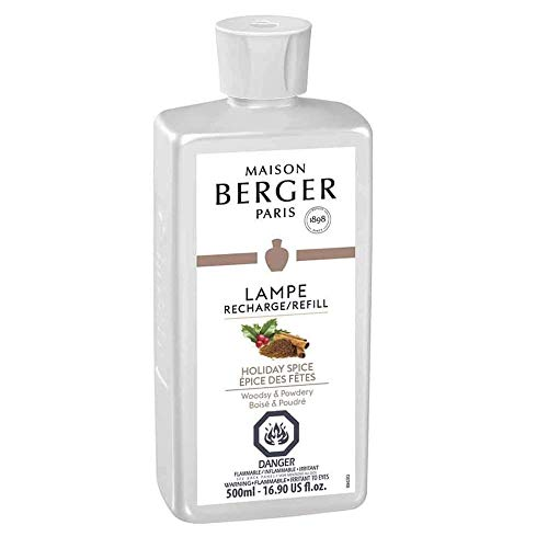 - Holiday Spice | Lampe Berger Fragrance Refill for Home Fragrance Oil Diffuser | Purifying and perfuming Your Home | 16.9 Fluid Ounces - 500ml | Made in France