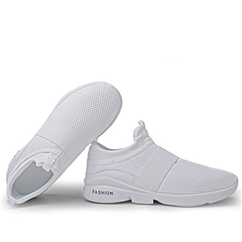 LANYIER Slip Sneakers Gym Breathable Fitness Fashion C on Men Mesh Casual Shoes Running Women White Lightweight Sports rUSr0qgv