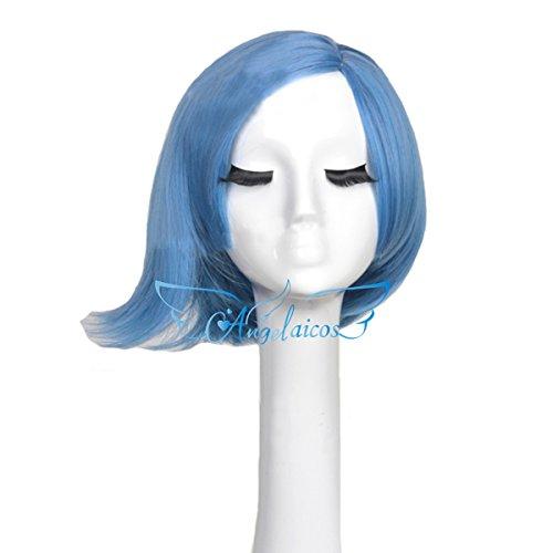 Angelaicos Unisex Lolita Party Halloween Cosplay Costume Hair Full Wigs Short (Bob Blue)]()