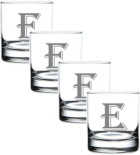 Monogram Engraved Glass Multi Purpose Beverage Rocks Occasion