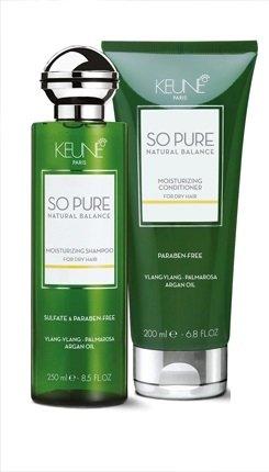 KEUNE So Pure Natural Balance Moisturizing Shampoo 8.5 oz and Conditioner 7 oz