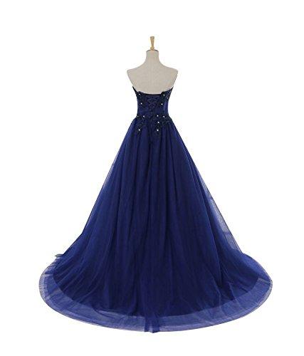 Dentelle La La De Soirée Parti Gamme Bleu Mariée Haut Goddess Robe 4 Cour Bleu Marine Gown Marine Crescencia Manches Sun De Sans Prom Banquet Cwxq06an