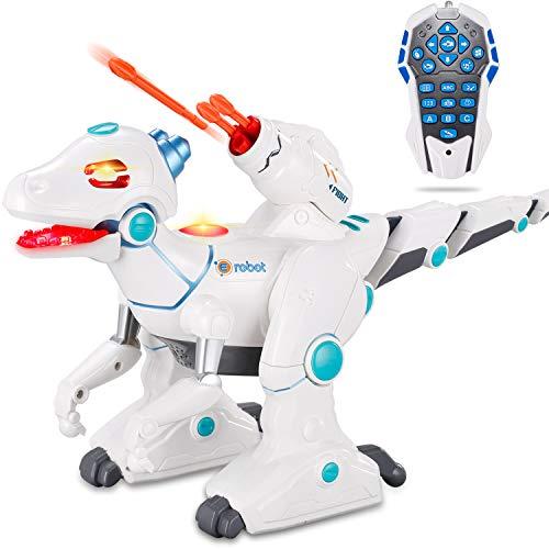 JIEQI Dinosaur Toys,Robot Dinosaur Remote Control RC Dinosaurs Robots for Kids