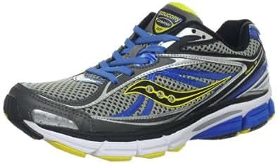 Saucony Men's Omni 12 Running Shoe,Grey/Blue/Yellow,7 W US