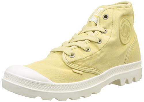 Donna K91 Sneaker Hi Pampas Écru Collo Alto Giallo a Palladium Pampa AgOwx46p