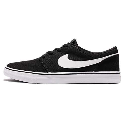 f6556c64de8018 Galleon - NIKE Mens SB Portmore II Solar Shoes CNVS Black White Size 6
