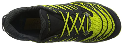 La Sportiva Men's Akasha Trail Running Shoes, Black/Yellow, 10.5 UK Multi-coloured (Black/Sulphur 000)