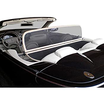 Aperta Wind Deflector fits Mercedes-Benz SL-Class R230 Black Tailor Made Windblocker Draft-Stop Wind Stop Mercedes-Benz Convertible