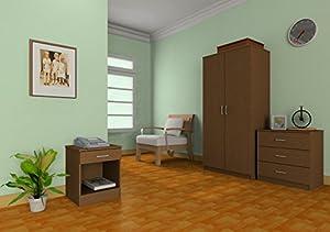 Panama 3 piece bedroom furniture sets wardrobe chest - Walnut bedroom furniture sets uk ...