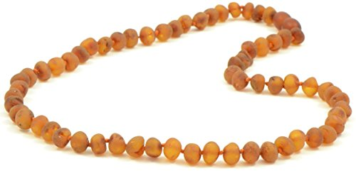 Raw Amber Necklaces for Adults - 18-21.6 inches - AmberJewelry - Made from Unpolished / Authentic Baltic Amber Beads
