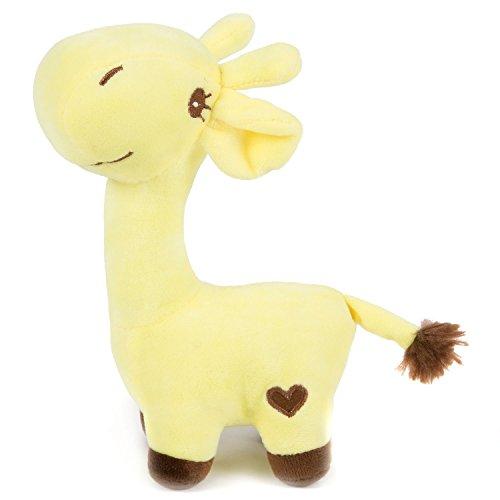HollyHOME Super Soft Stuffed Animal Giraffe Valentine Gift Plush toy 8.5 inches Yellow