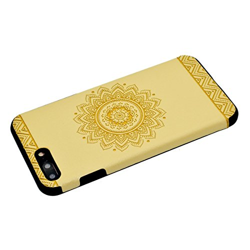 "inShang iPhone 6 Plus iPhone 6S Plus 5.5"" Funda y Carcasa para iPhone 6 Plus iPhone 6S Plus 5.5 inch case iPhone 6+ iPhone 6S+ 5.5 inch móvil, Ultra delgado y ligero Material de TPU, carcasa posterior Yellow printing"