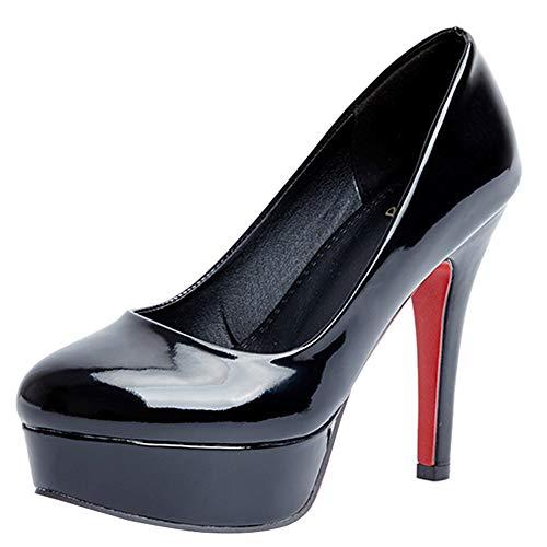 Chaussures Mode Femmes Pompes Hauts Fête Noir Coolcept Talons 6I5zwIn