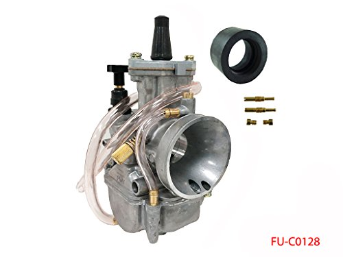 Racing Flat Slide Carburetor Replace for OKO 28mm Carburetor 2 Stroke Cycle Motorcycle Scooter Dirt Bike ATV Buggies