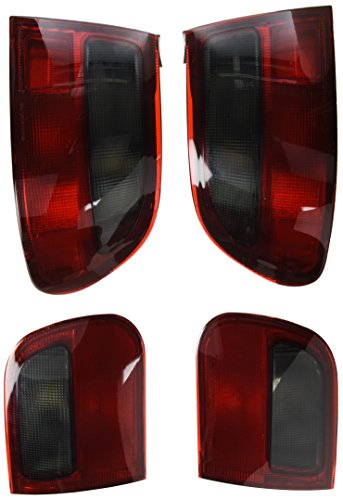 Light Smoke Lenses Crystal Tail (Spec-D Tuning LT-CV923RG-RS Honda Civic Hatchback 3Door JDM Crystal Red/Smoke Rear Tail Brake Lights)