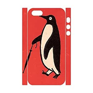 3D Penguin Walking with a Umbrella Cute Case For Iphone 6 4.7 Inch Cover Case - White