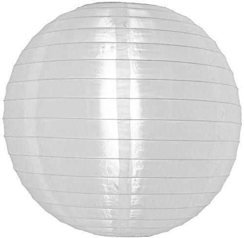Quasimoon PaperLanternStore.com 14 Inch White Nylon Lantern, Durable Hanging Decoration