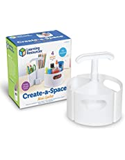 Learning Resources Create-a-Space Storage Mini Center - White, Classroom Craft Keeper, Maker Space, Small Space Storage, Teacher Organizer, Home School Accessories, 4 Piece Set