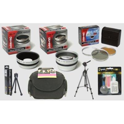 Opteka HD² Professional Accessory Kit for Kodak EasyShare Z612, Z712, Z812, Z1012, and Z8612 IS Digital Camera, Best Gadgets