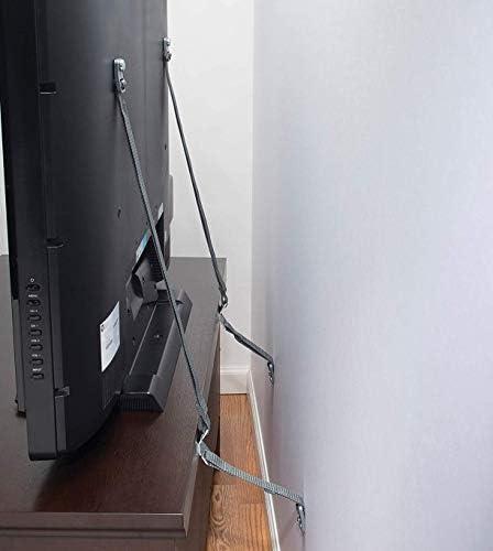 Safety 1st Tv & Furniture Safety Straps, Black