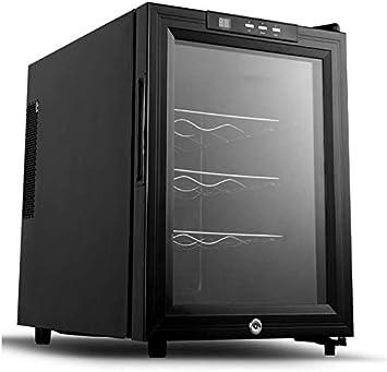 JJLL Vino Cooler- independiente individual Zona de Bodega Nevera y Chiller, refrigerador de vino tranquilo con protección UV de cristal de la puerta, compresor de refrigeración de la tapa contraria (1