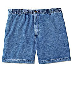 Harbor Bay Big & Tall Elastic-Waist Denim Shorts at Amazon Men's ...